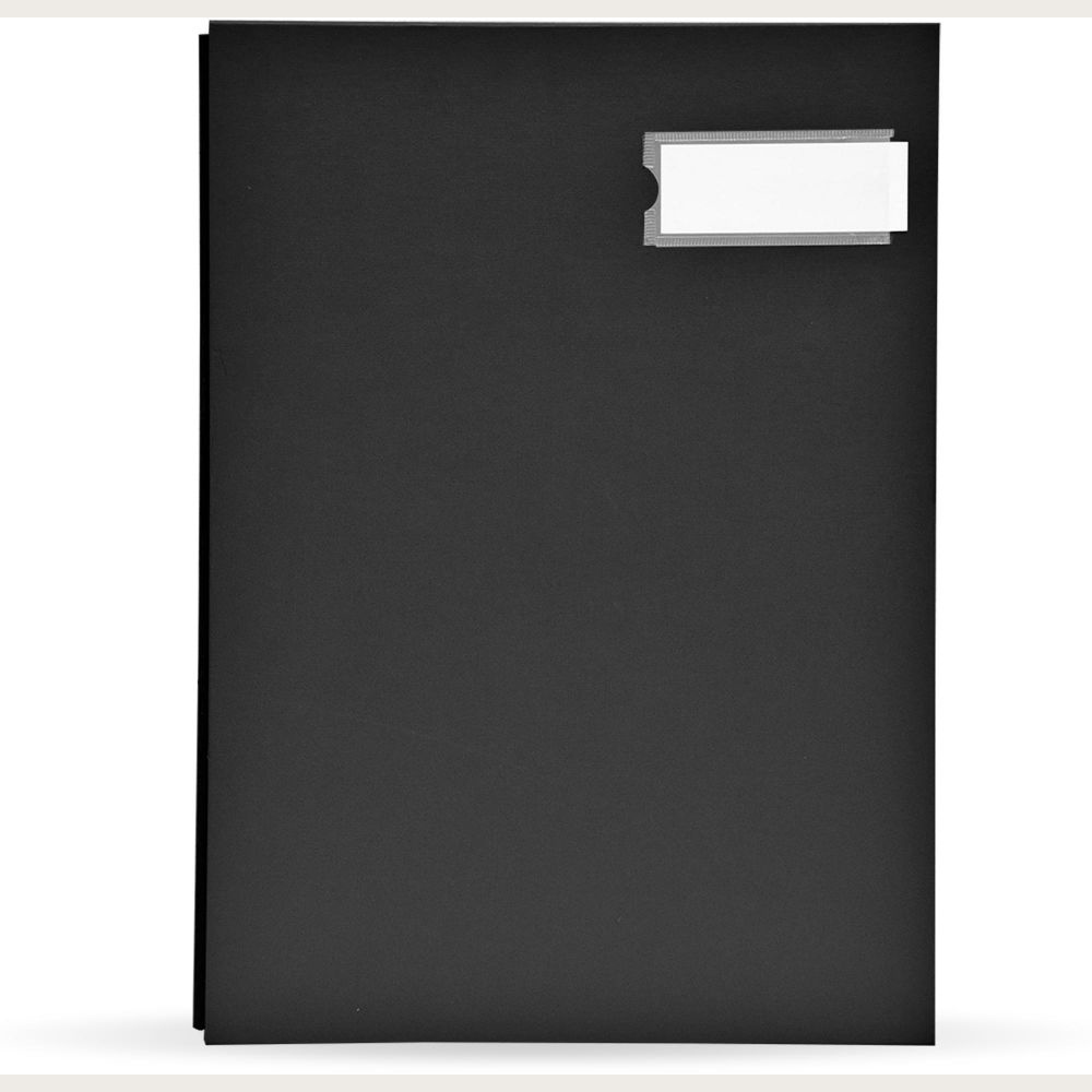 FIS Signature File PP Material Cover 240x340mm - Black (pc)
