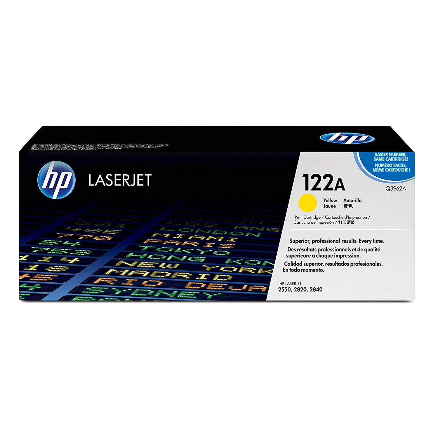 HP 122A (Q3962A) Original Laserjet Toner Cartridge - Yellow