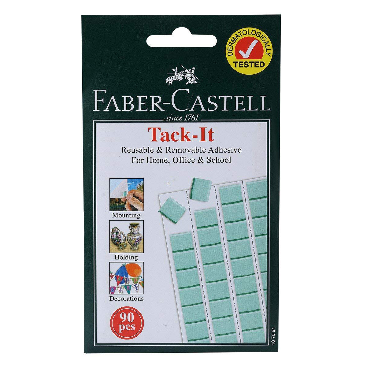 Faber Castell Tack-It Removable Adhesive - Green (pkt/90pcs)
