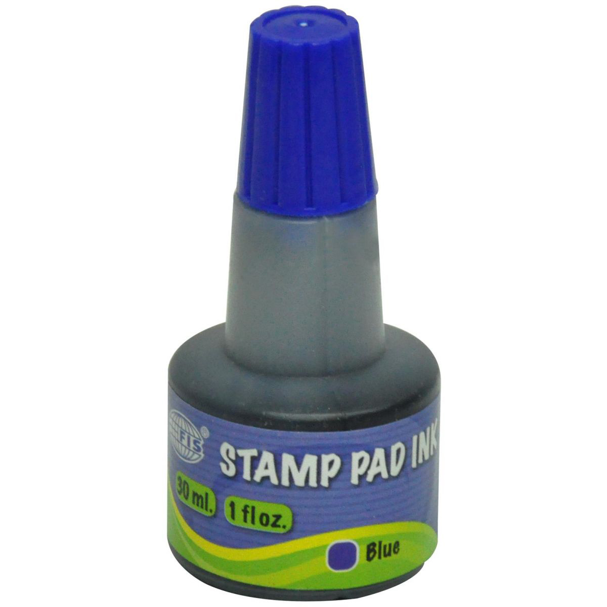 FIS FSIK030BL Stamp Pad Ink 30ml - Blue (pc)