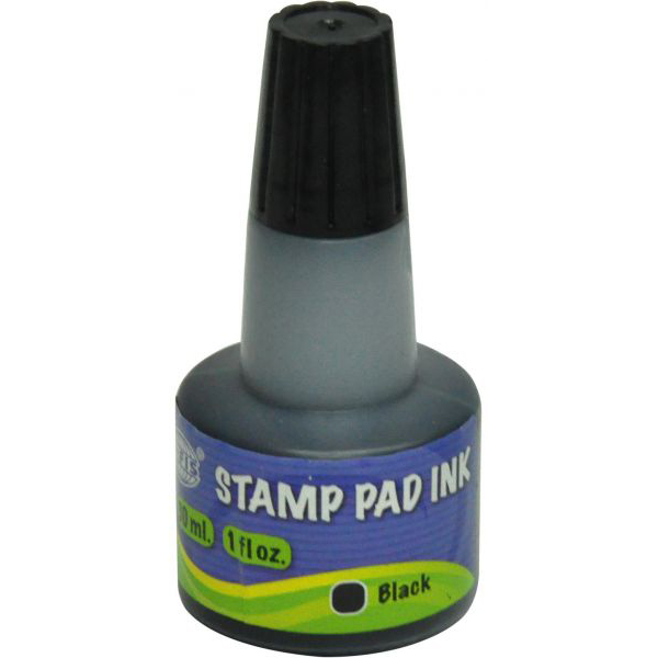 FIS FSIK030BK Stamp Pad Ink 30ml - Black (pc)