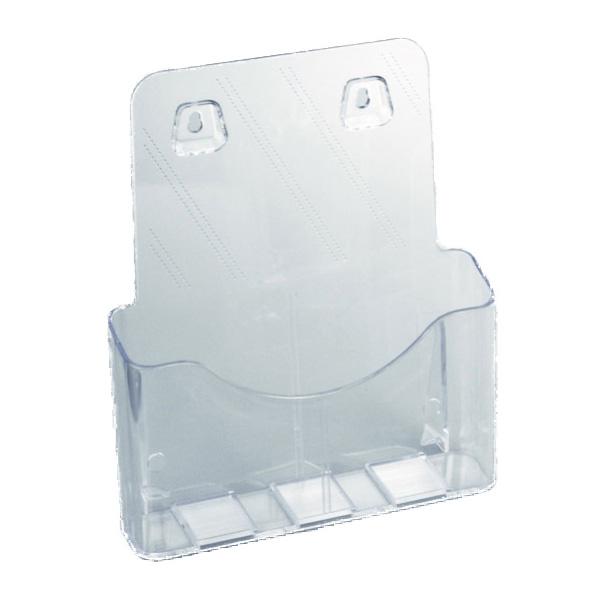 Tecnostyl LH001 Single-Pocket Desk Brochure / Catalogue Holder Acrylic A4 - Clear (pc)