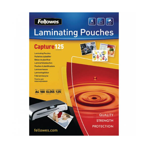 Fellowes FELLP125A4 125 microns Laminating Pouch - A4 (pkt/100pcs)