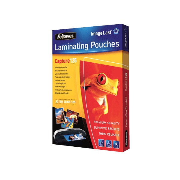 Fellowes FELLP125A3 125 microns Laminating Pouch - A3 (pkt/100pcs)