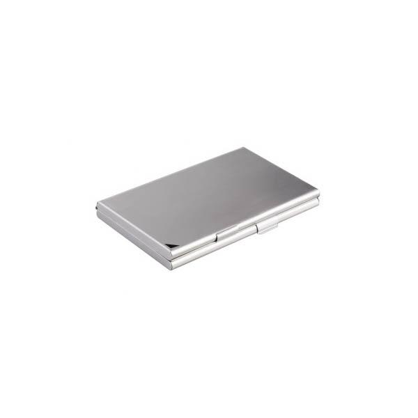 Durable Business Card Case Duo - Metallic Silver (pc)