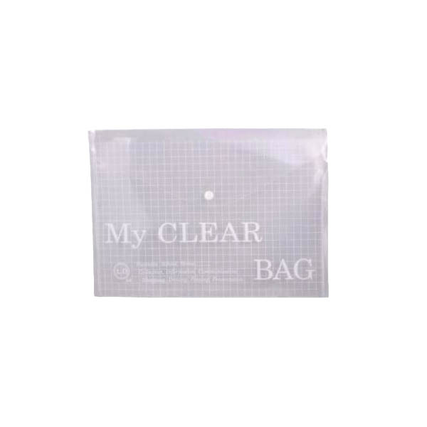 Deluxe My Clear Bag Document Bag A4 - Clear (pkt/12pcs)