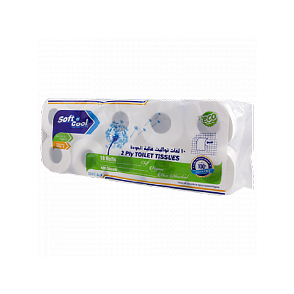 Soft n Cool TR350 350-sheets Toilet Tissue Roll (pkt/10roll)