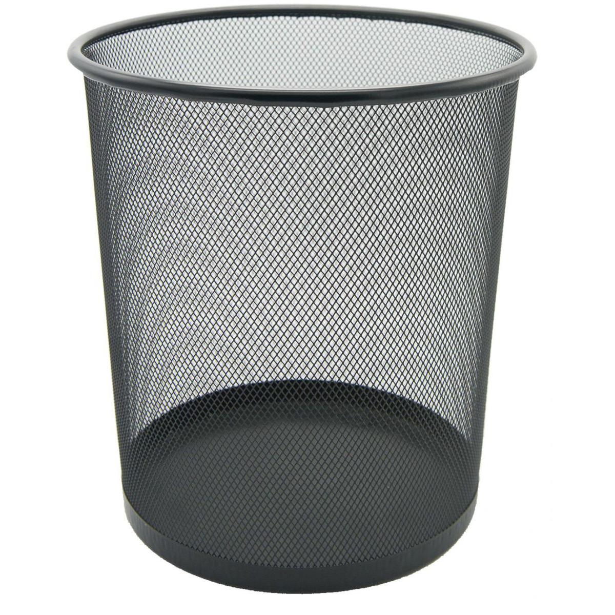 FIS FSWA101BK Round 23cm x 26cm Wire Mesh Basket - Black (pc)