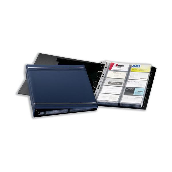 Durable 2388-07 Visifix Business 400-Card A4 Ring Binder 20 pockets - Blue (pc)