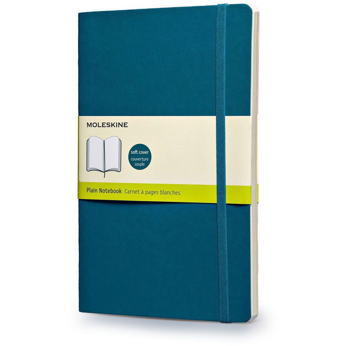 Moleskine Plain Soft Cover Notebook Large (ME-QP618B6) - Underwater Blue (pc)