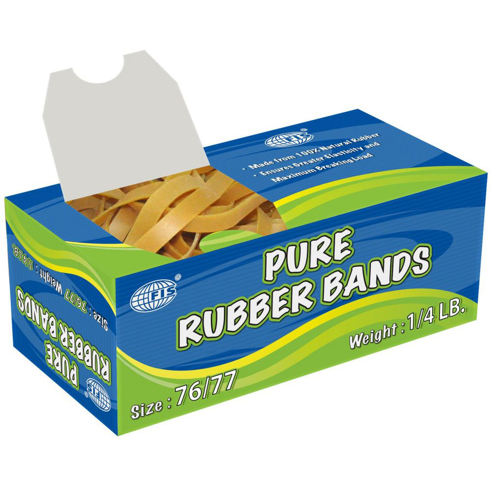 FIS 76/77 Pure Rubber Band 1/4lb - FSB76/77 (pkt)