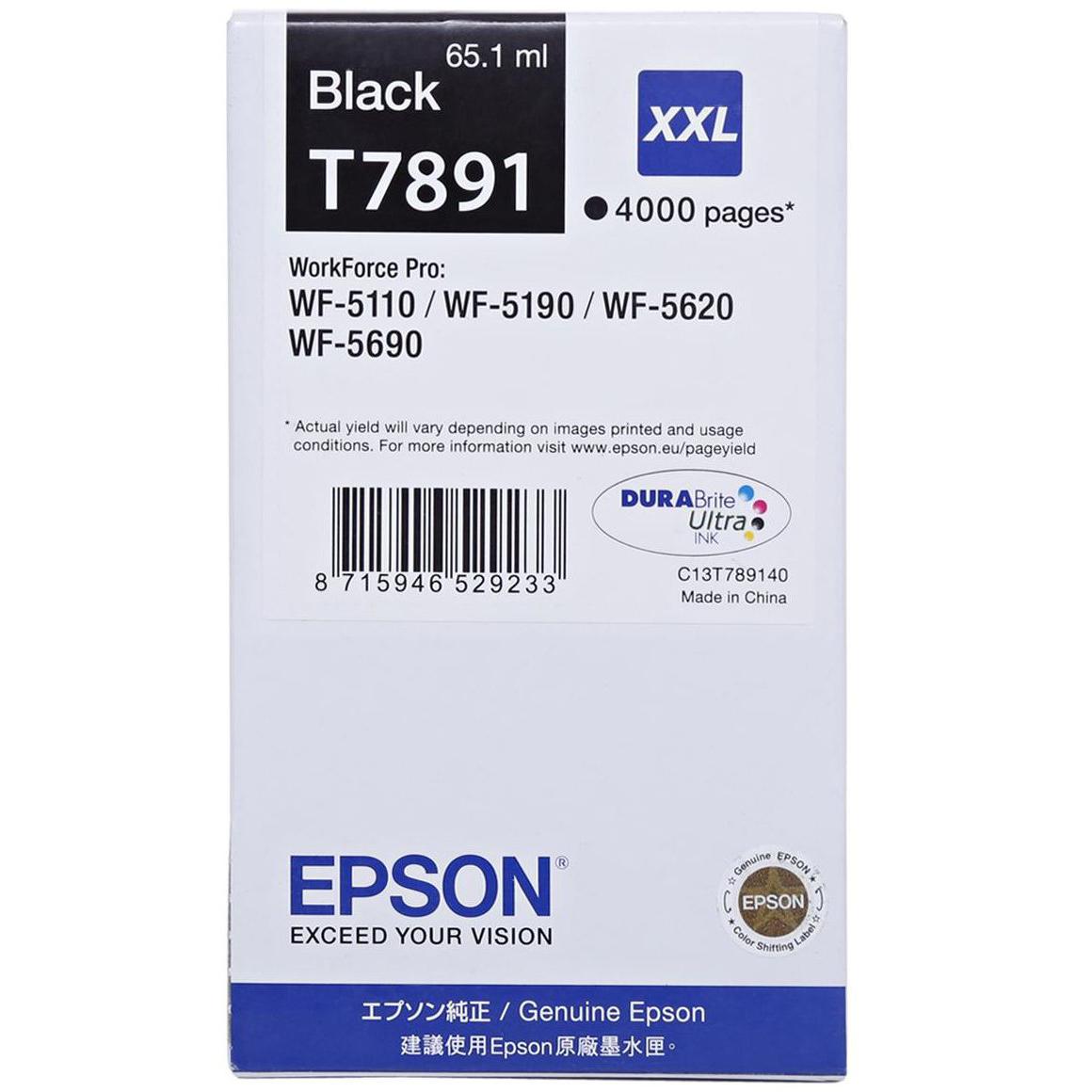 Epson T7891 Ink Cartridge (C13T789140) - Black