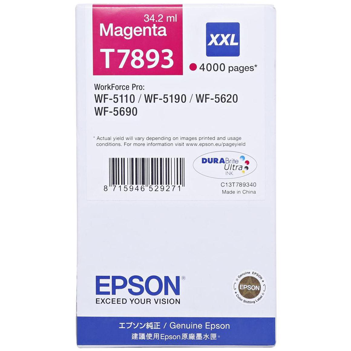Epson T7893 Ink Cartridge (C13T789340) - Magneta