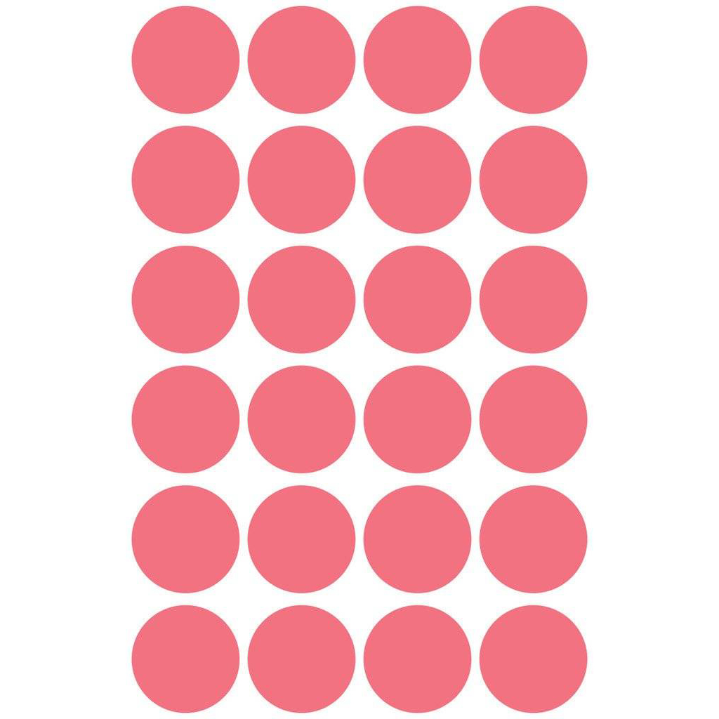 Pauli Office Round Labels 18mm - Red (pkt)