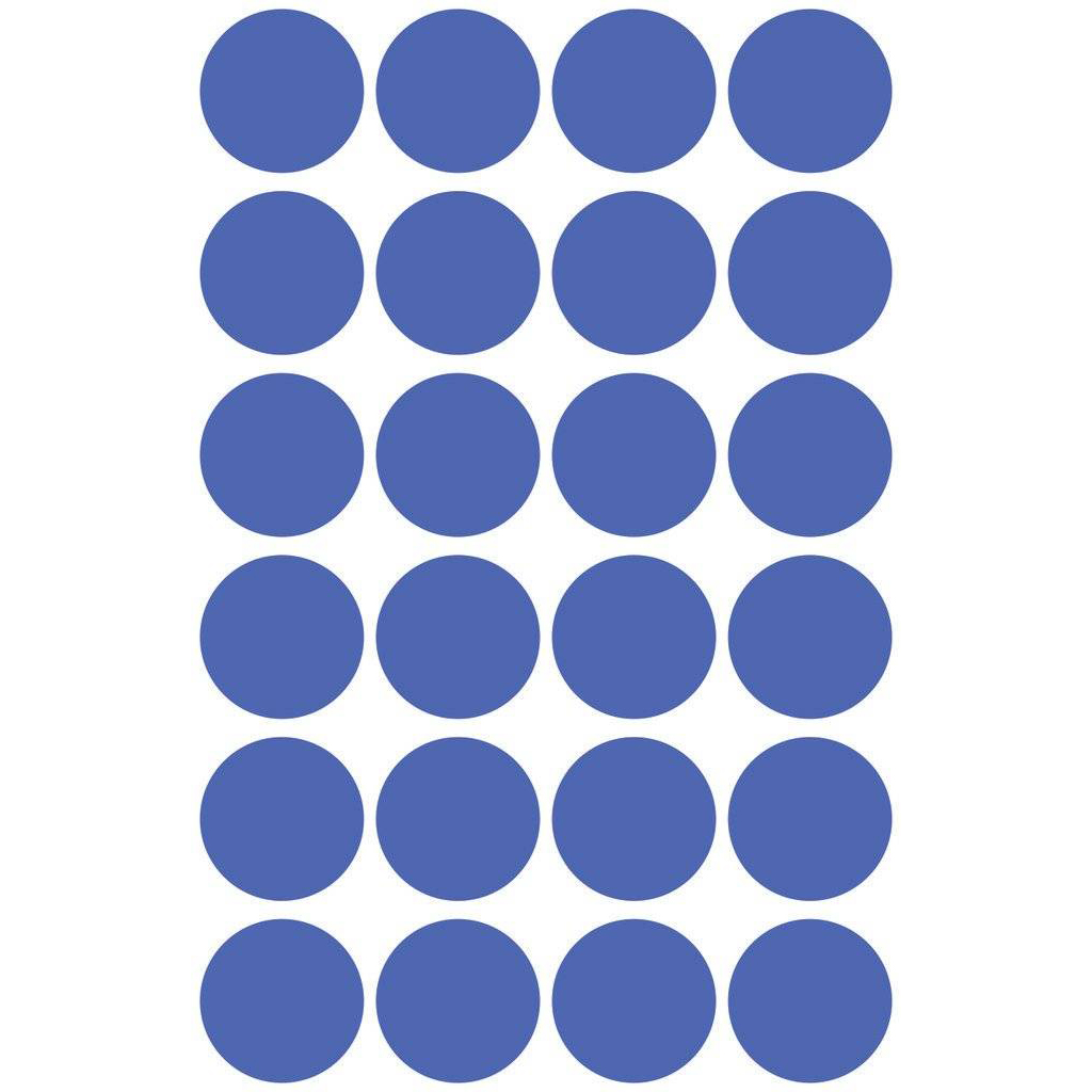 Pauli Office Round Labels 18mm - Blue (Pkt)