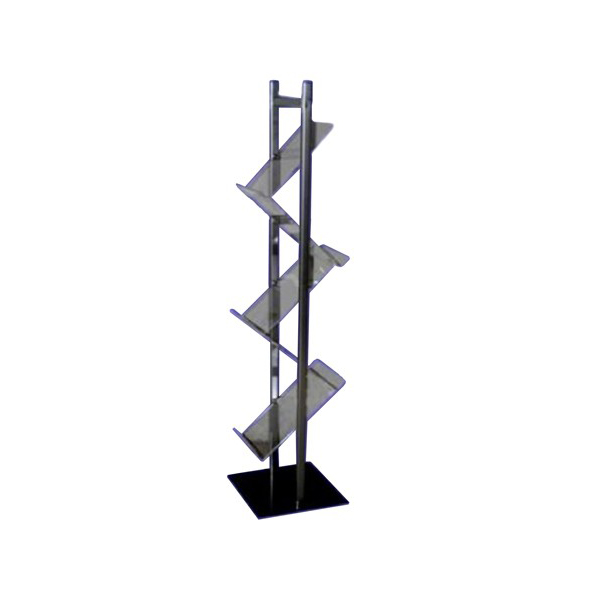 Zigzag Brochure Stand - Silver (pc)