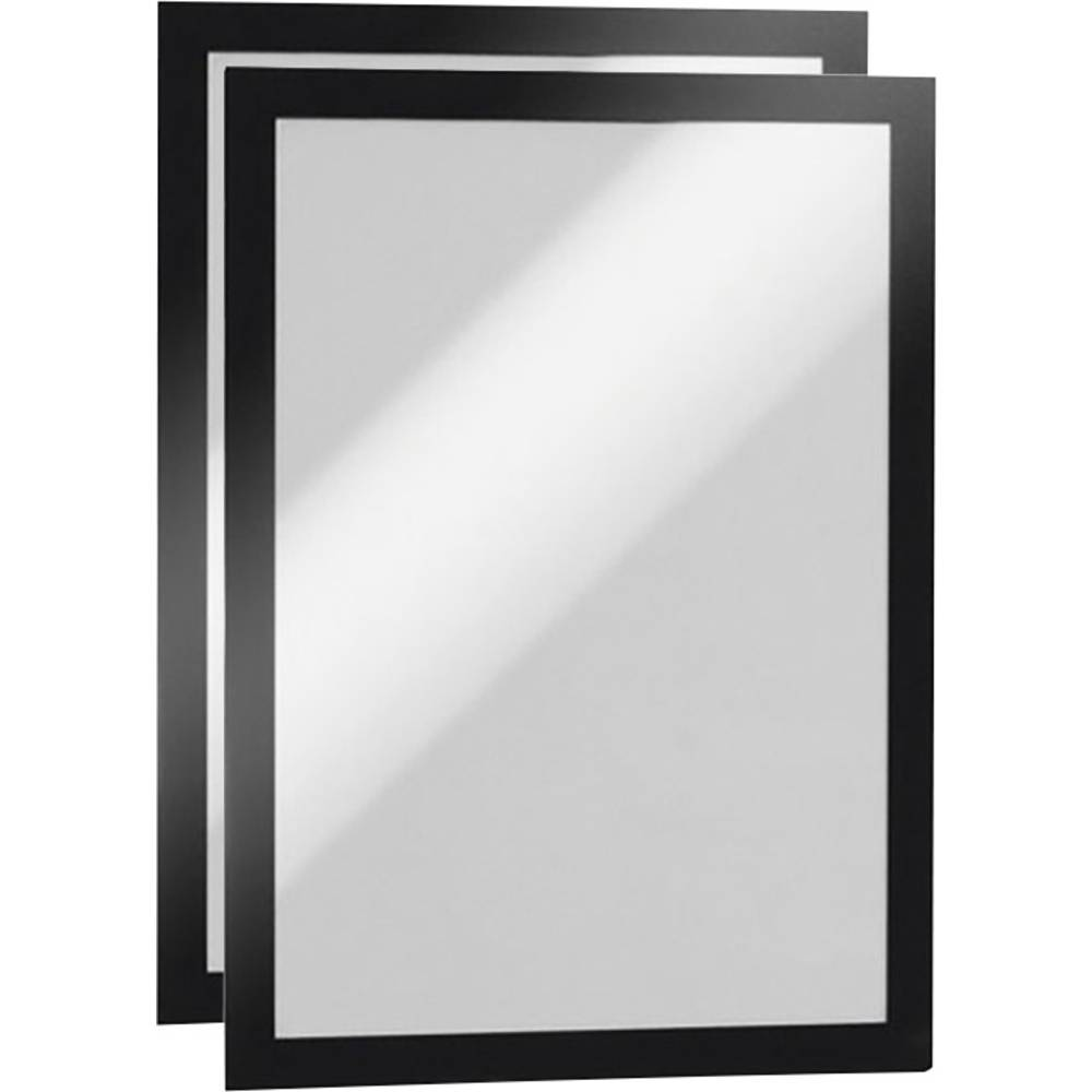 Durable DUMF4872-01 Duraframe Self-Adhesive Magnetic Frame A4 - Black (Pkt/2pc)