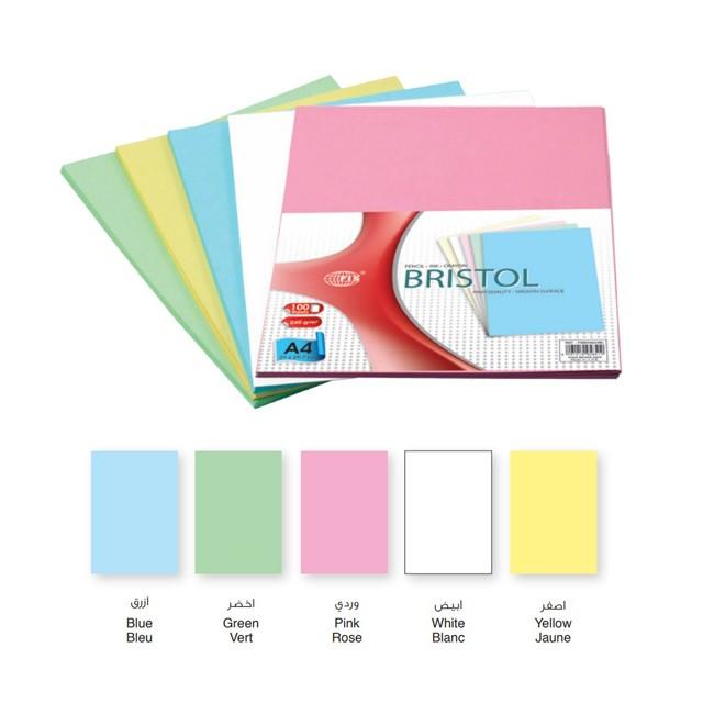 FIS Bristol Board 240gsm A4 - Pink (Pkt/100s)
