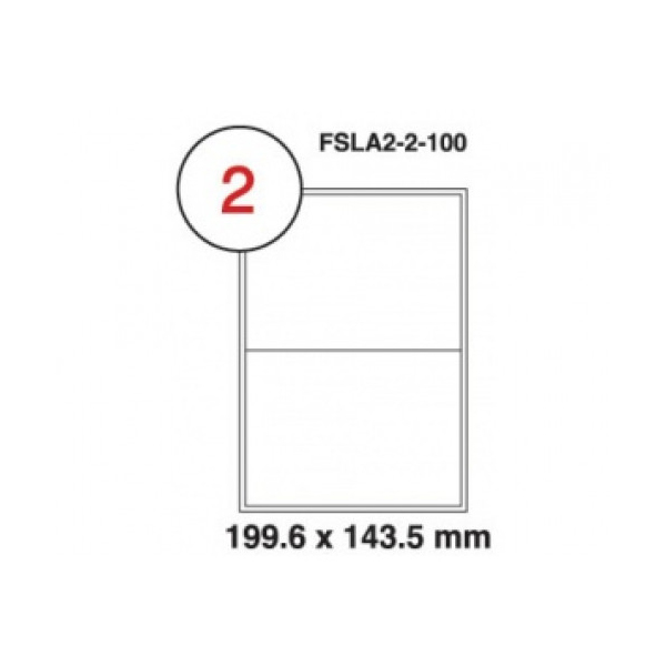FIS FSLA2-100 210mm x 148.5mm Label Sticker (pkt/100pcs)