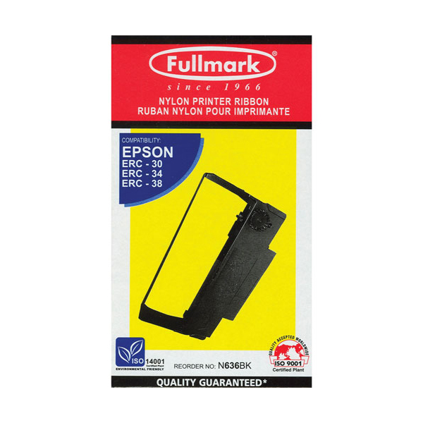 Fullmark N636PE Compatible Ribbon Cartridge for Epson ERC 30/34/38