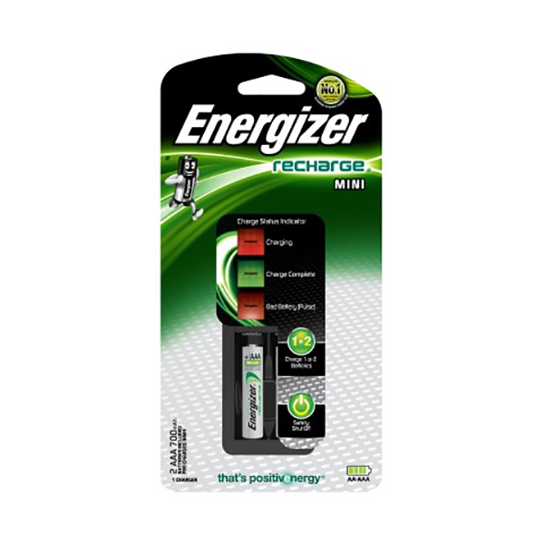 Energizer CH2PC4 Mini Charger with 2 AAA NiMH Rechargeable Battery (pc)
