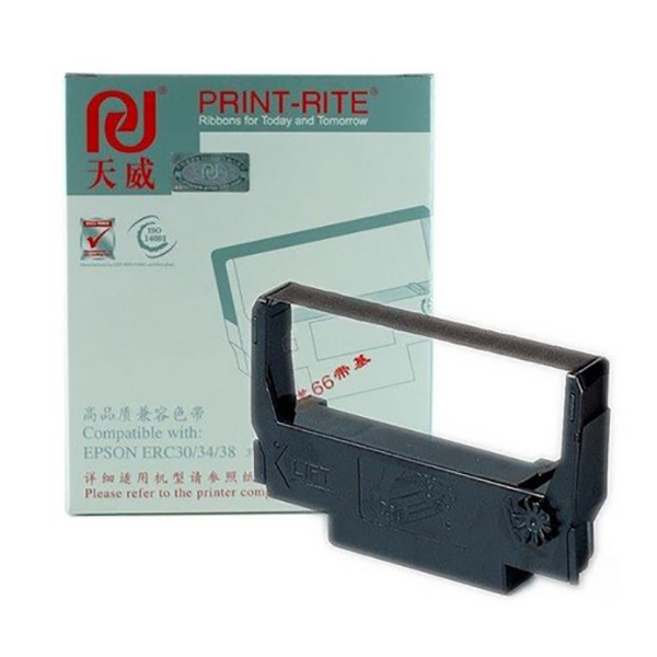 Print-Rite Compatible Ribbon for Epson ERC 30/34/38 - Black