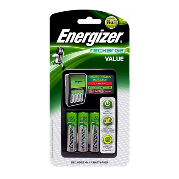 Energizer CHVCM4 Maxi Charger with 4pcs AA Battery (pkt)
