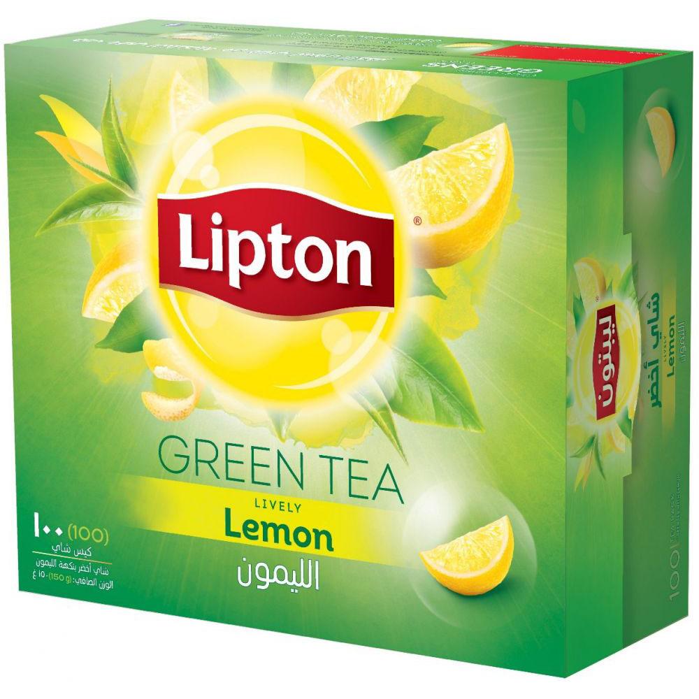 Lipton Green Tea with Lemon (pkt/100pcs)
