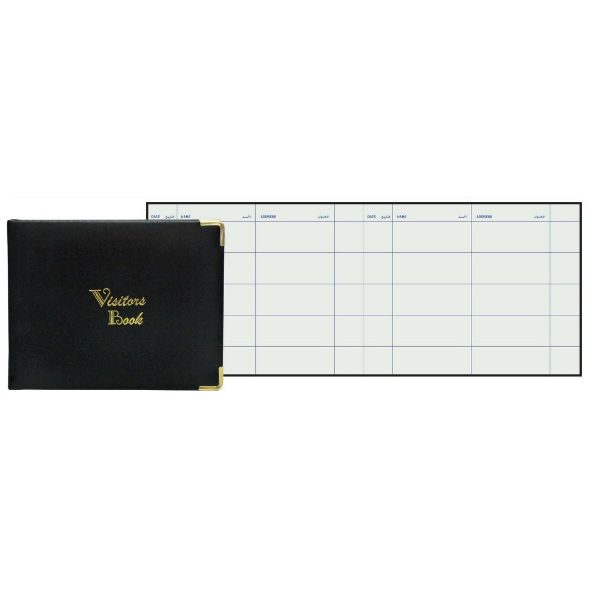 FIS Visitors Log Book 120 sheets 200 x 250 mm - Black (pc)