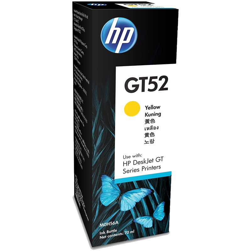 HP GT52 70-ml Ink Bottle Inkjet Refill - Yellow
