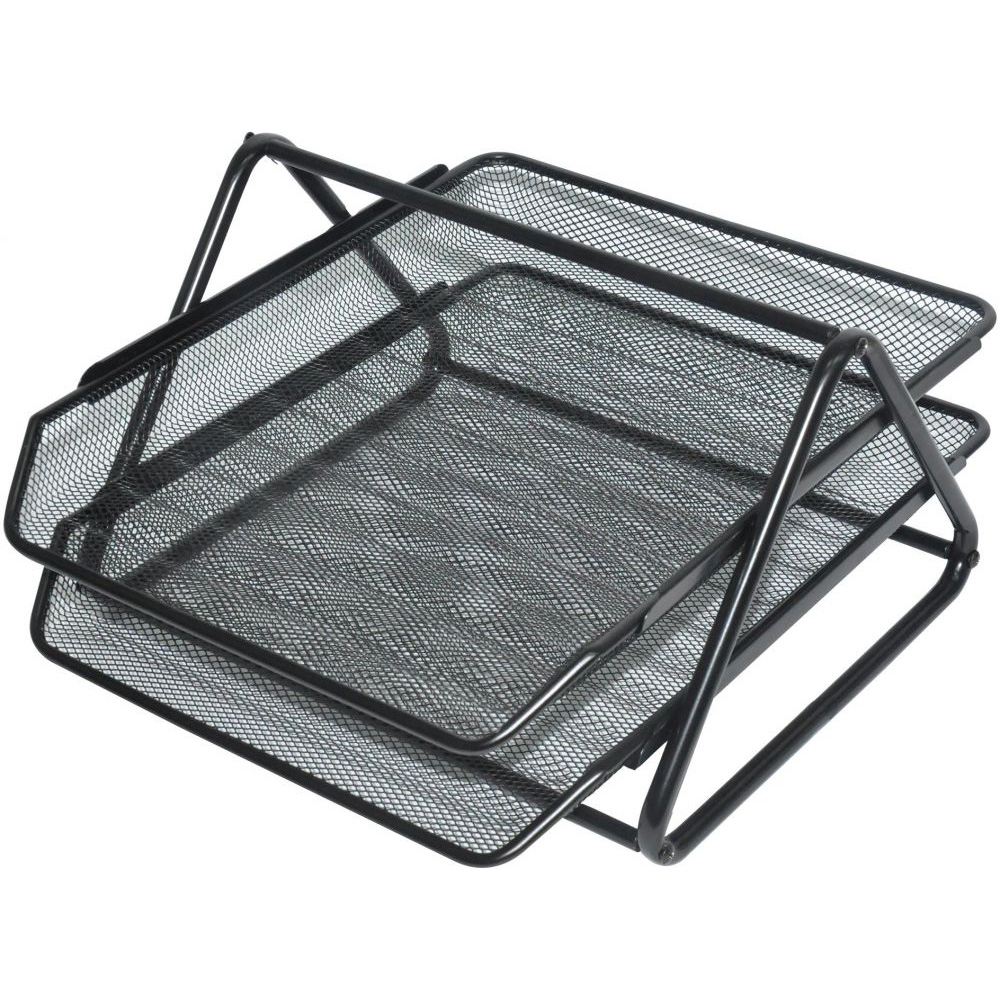 FIS FSOTB82002 2-Tier Metal Tray - Black (pc)