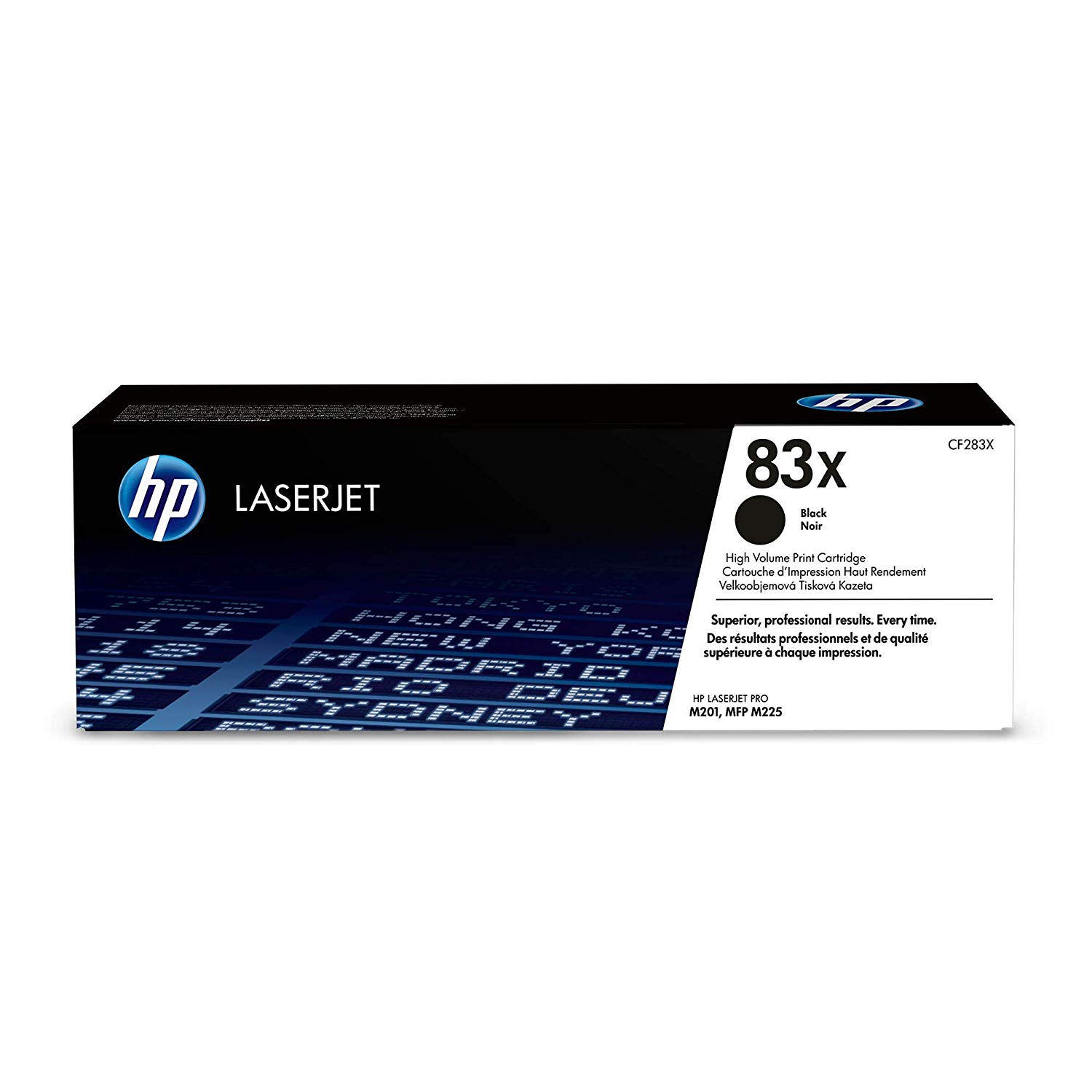 HP 83X High-Yield Toner Cartridge (CF283X) - Black