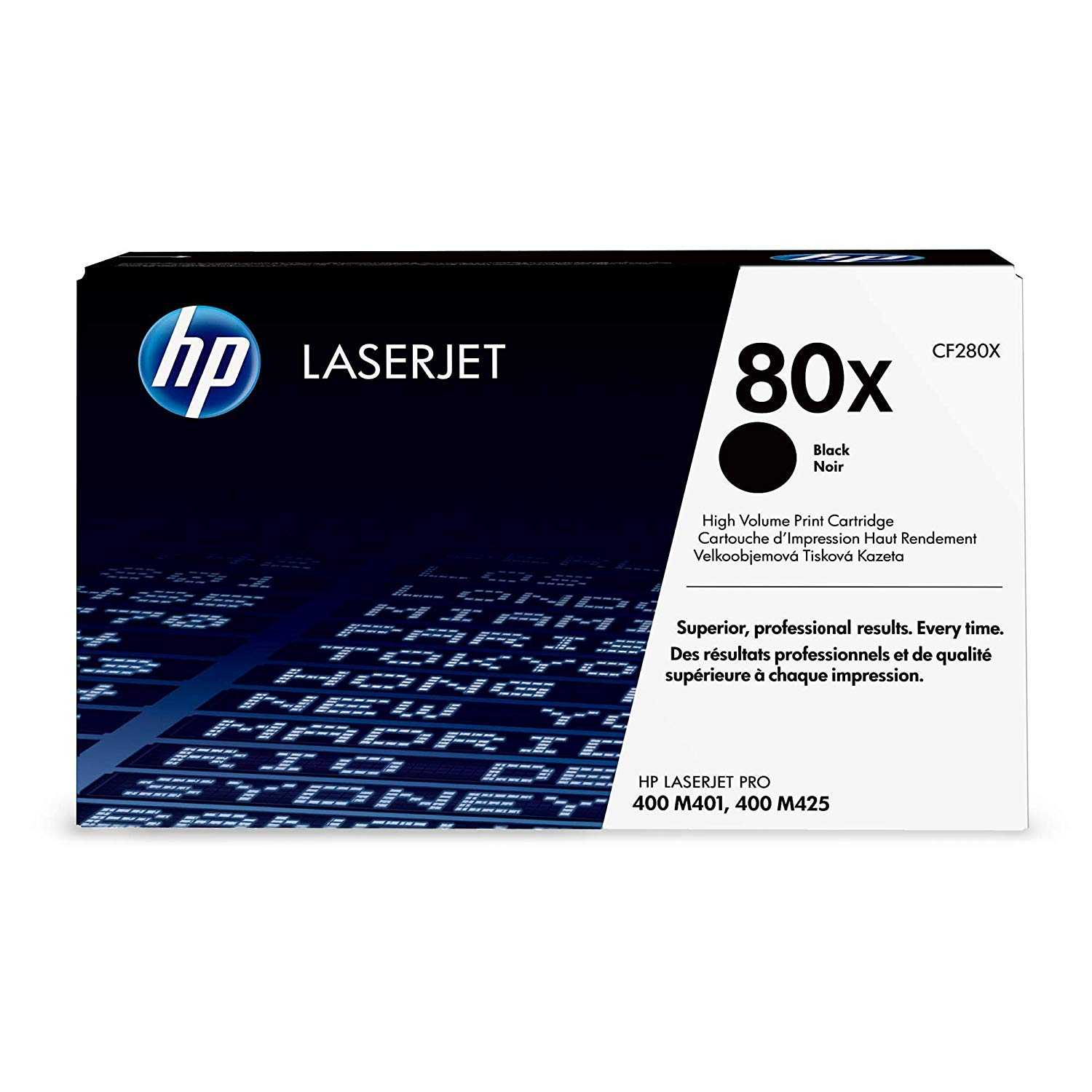 HP 80X High-Yield Laserjet Toner Cartridge - Black