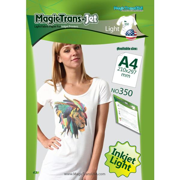 MagicTrans-Jet 350 Fabric Heat Transfer Paper A4 - Light (pkt/100s)