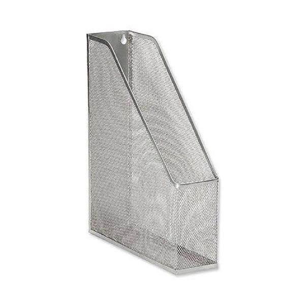 Partner Magazine Rack Metal Mesh - Silver (pc)