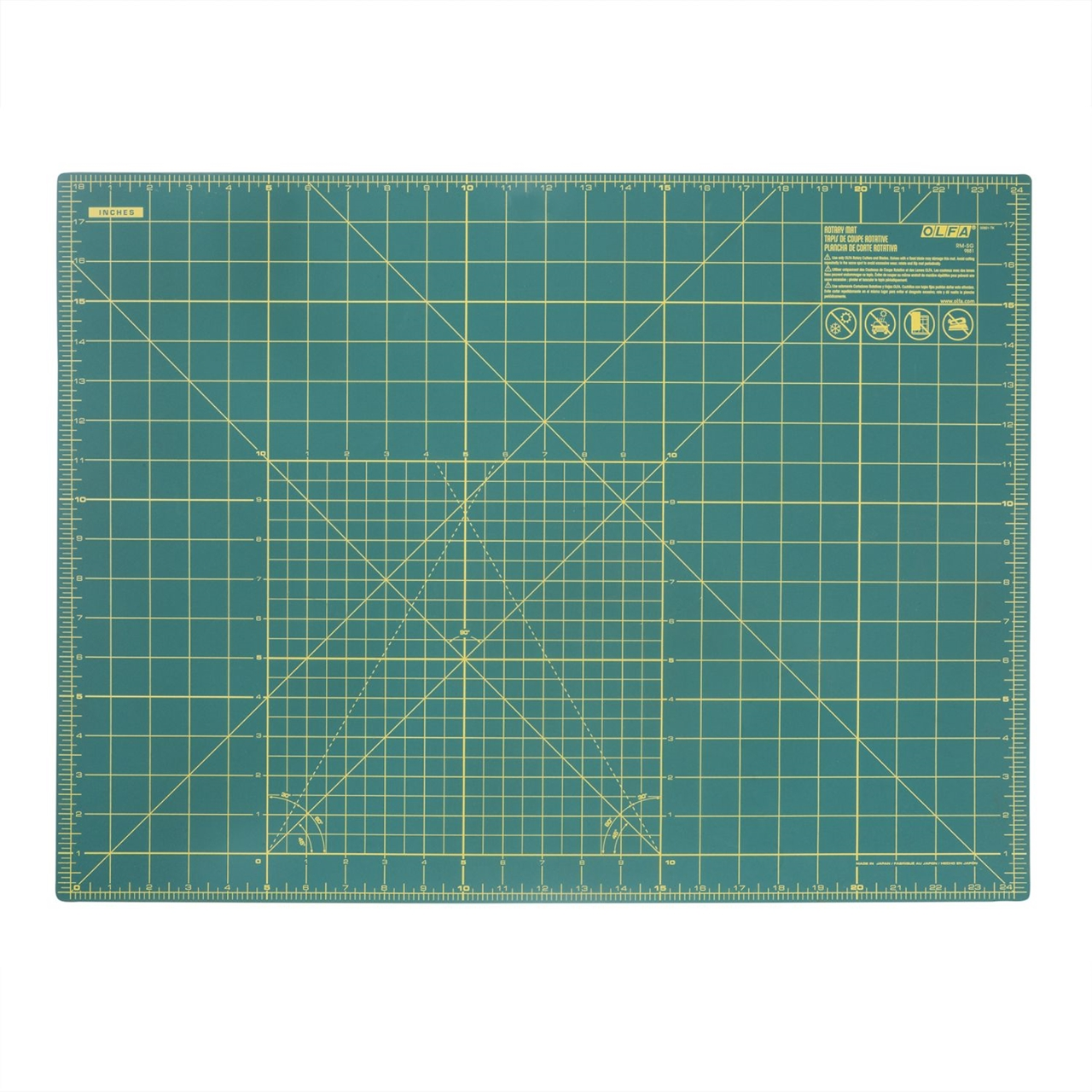 Olfa CM-A2 Self-Healing Cutting Mat A2 (620x450mm) - Green (pc)