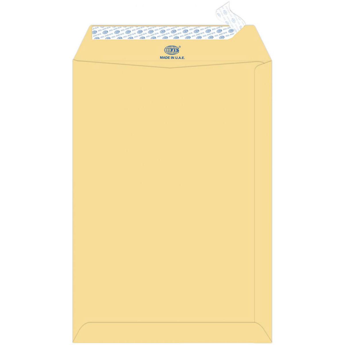 FIS A4 13 x 9 in Envelope FSME9027P50 - Brown (pkt/50pcs)