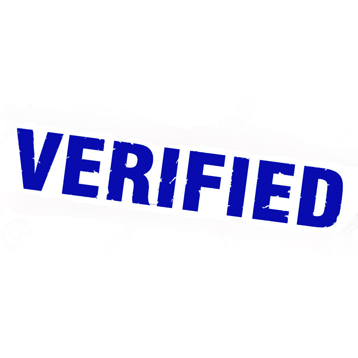 VERIFIED Stamp - Blue (pc)