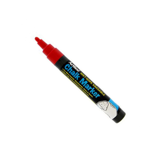 Artline 4974052 838224 Chalk Marker 2.0mm - Red (pkt/12pcs)