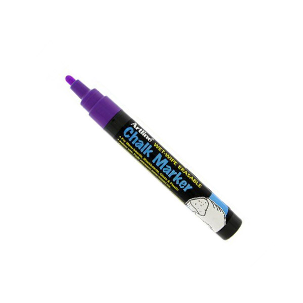 Artline 4974052 838255 Chalk Marker 2.0mm - Purple (pkt/12pcs)