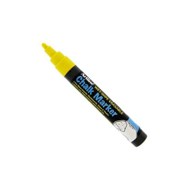 Artline 4974052 838637 Chalk Marker 2.0mm - Yellow (pkt/12pcs)