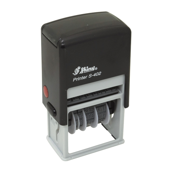 Shiny S-402 Self Inking Received with Date Stamp - Blue / Red (pc)