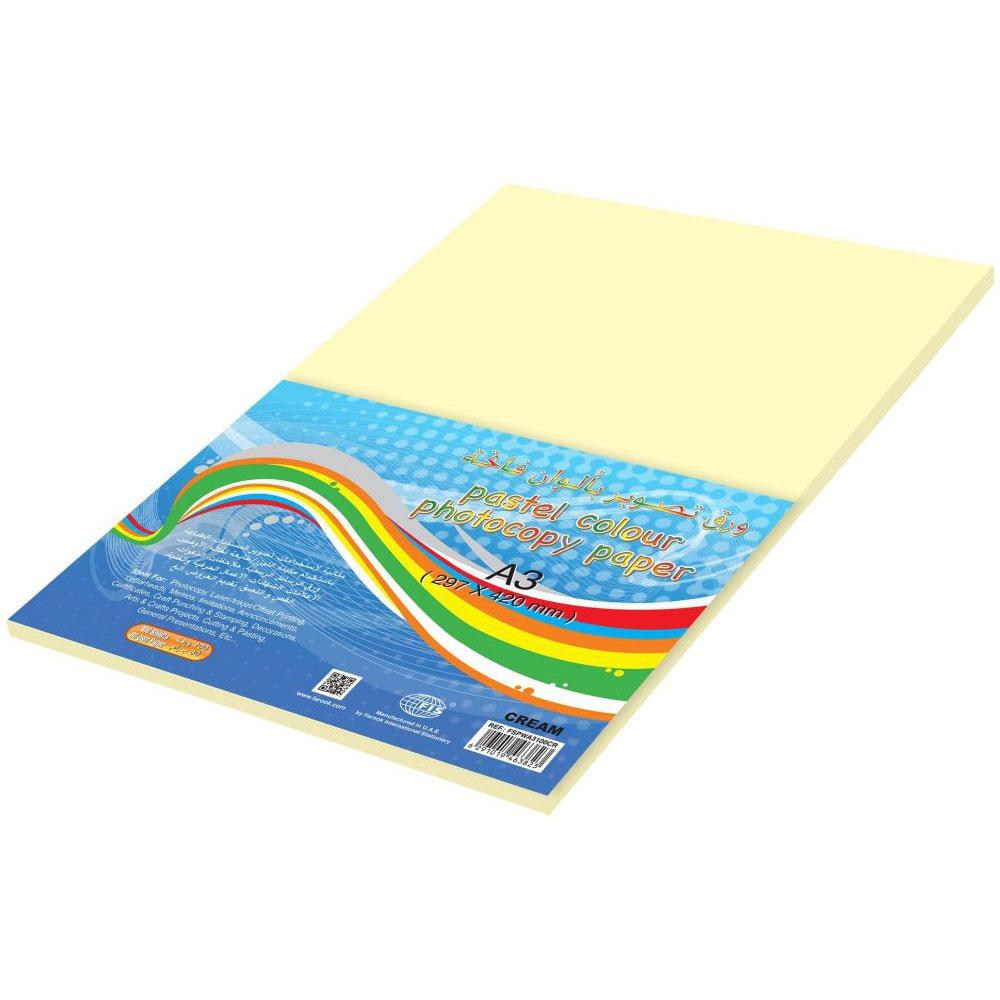 FIS Color Photocopy Paper 80gsm A3 FSPWA3100CR - Pastel Cream (pkt/100s)