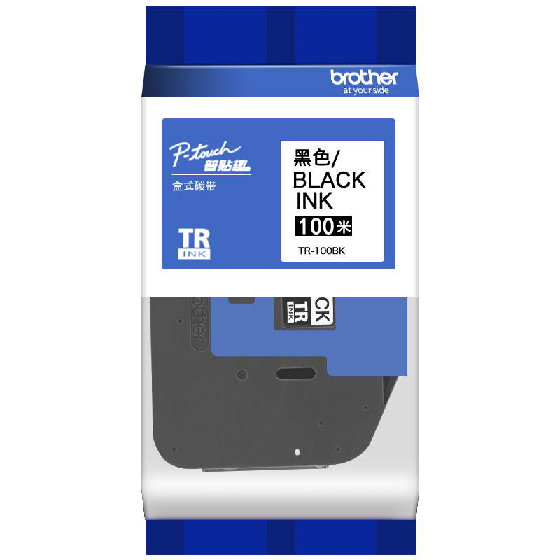 Brother TR-100BK 12mm x 100 m Ribbon Tape - Black (pc)