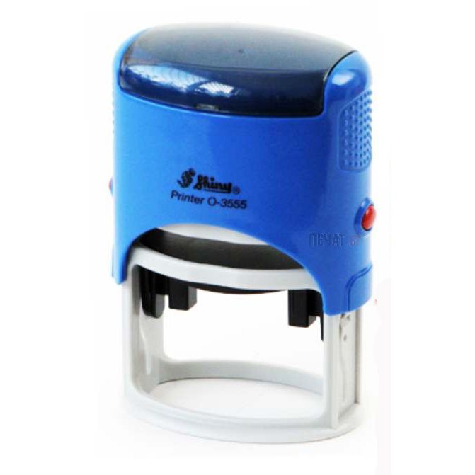 Shiny O-3555 Customized Oval Self-Inking Stamp 35 x 55mm - Blue (pc)