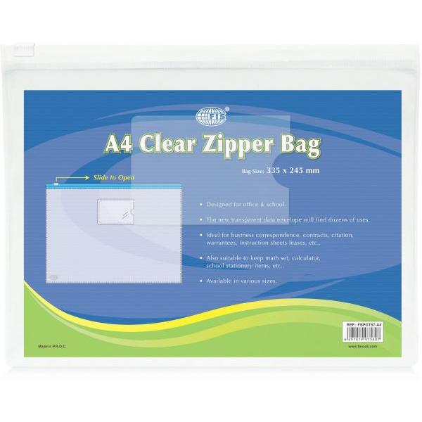 FIS Zipper Bags A4 FSPGT57 - Clear (pc)