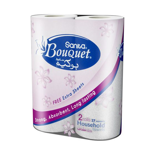 Sanita Bouquet 2-Ply Kitchen Rolls - White (pkt/2pcs)