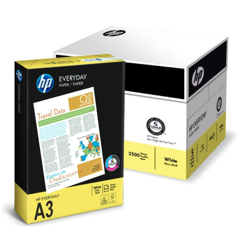 HP Everyday Photocopy Paper 80gsm - A3 (box/5reams)