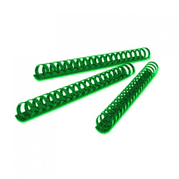 Deluxe 17808 A4 8mm Plastic Binding Comb - Green (pkt/100pcs)
