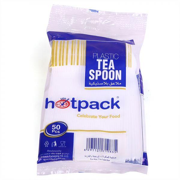 Hotpack Plastic Disposable Teaspoon TSP50HP - White (pkt/50pcs)
